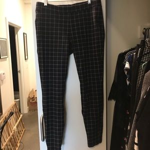 Express Pull On Plaid Ankle Leggings